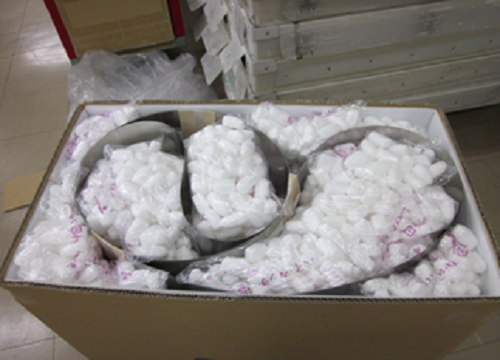 海外輸出:スチールベルトの梱包姿