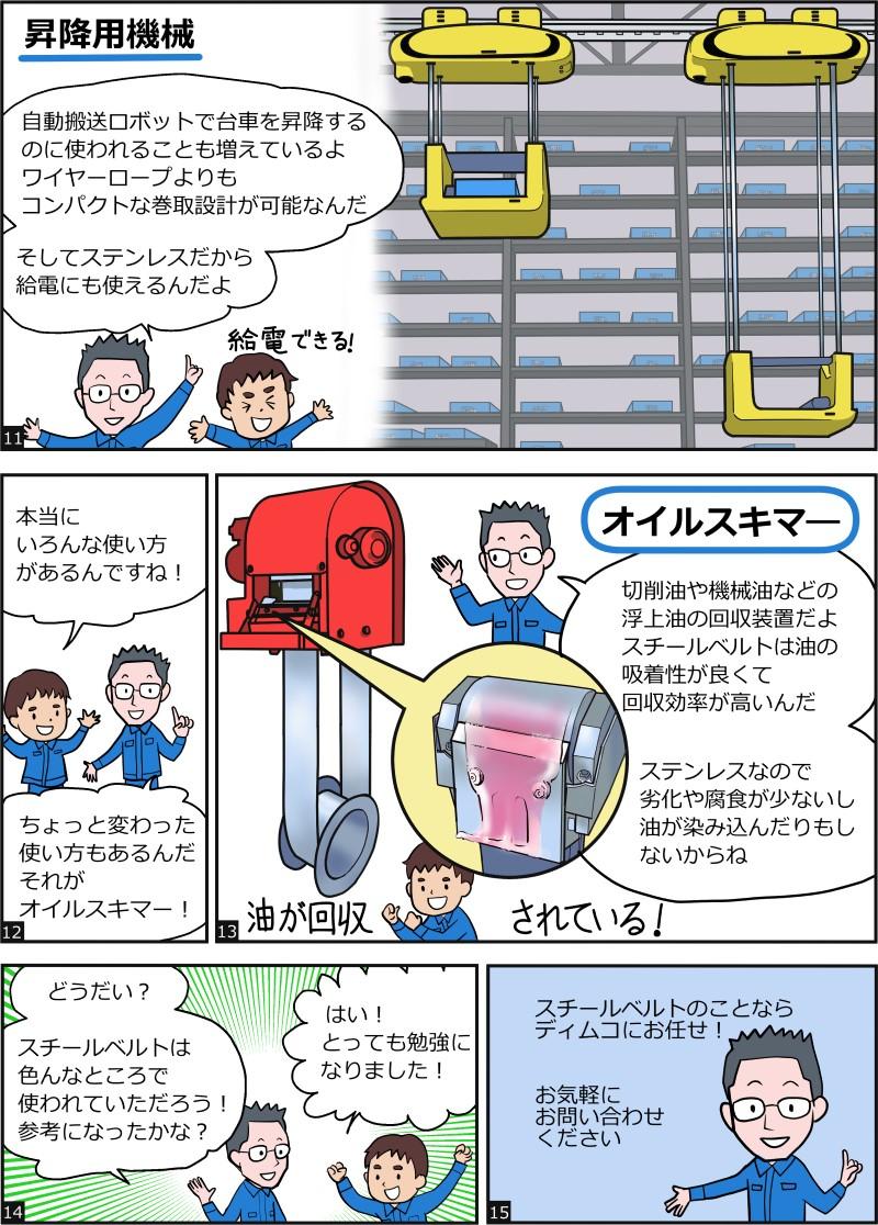 漫画でわかる!スチールベルトの用途例-p.3